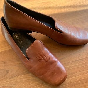 Vintage Ralph Lauren brown leather loafers
